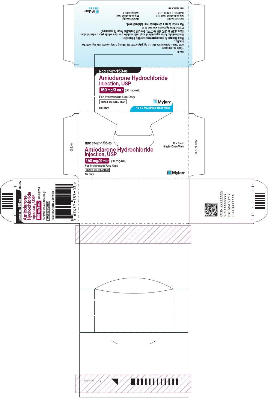 Amiodarone Hydrochloride Injection 150 mg/3 mL Carton Label