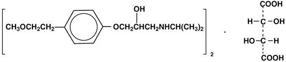 Metoprolol Tartrate Structural Formula