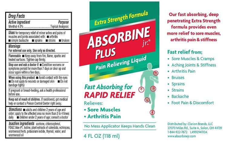 Absorbine Jr. Plus Label