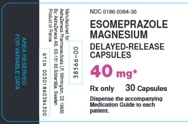Esomeprazole Magnesium 40 mg 30 capsules bottle label