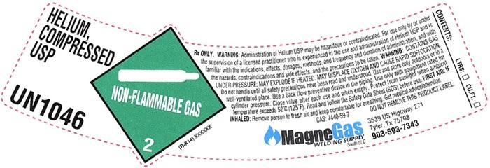 Helium shoulder label