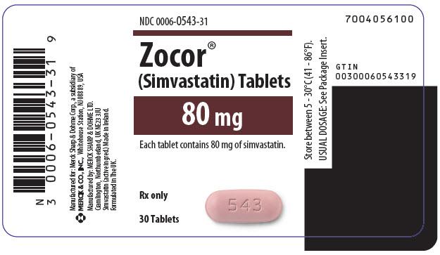 PRINCIPAL DISPLAY PANEL - 80 mg Tablet Bottle Label