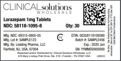 Lorazepam 1mg tablet 30 count blister card