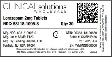 Lorazepam 2mg tablet 30 count blister card