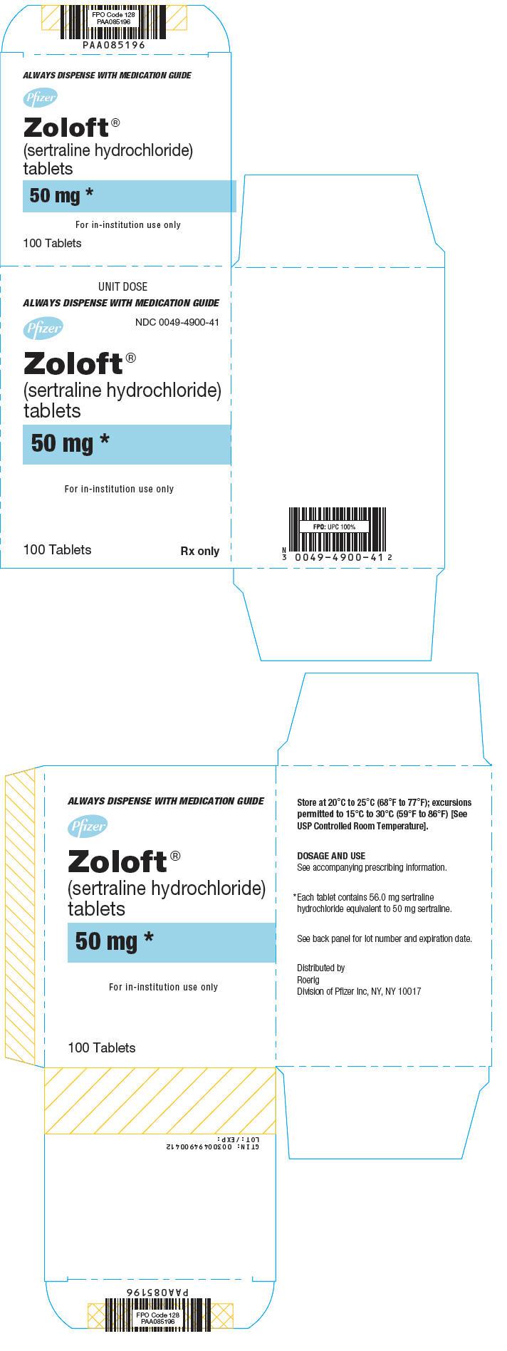 PRINCIPAL DISPLAY PANEL - 50 mg Tablet Blister Pack Carton
