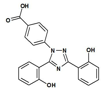 Deferasirox structural formula.