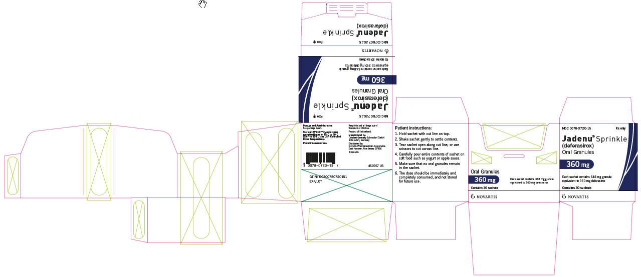 PRINCIPAL DISPLAY PANEL – PACKAGE LABEL – 360 MG Sprinkle
