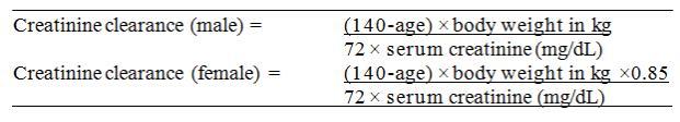 The Cockcroft-Gault formula