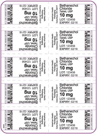 10 mg Bethanechol Chloride Tablet Blister