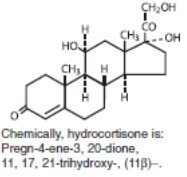 Chemical Structure_Hydrocortisone